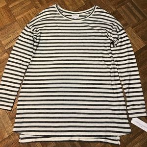 Liz Lange Maternity Striped Top Tunic Size L