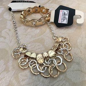 Napier 2-tone necklace and bracelet set-New