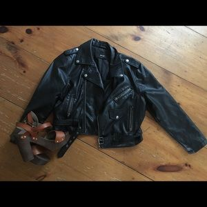 Nasty gal Faux leather cropped  jacket