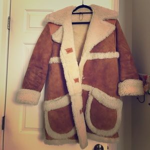 Authentic Coach shearling/suede camel coat.