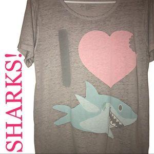 i ❤️ sharks tee!