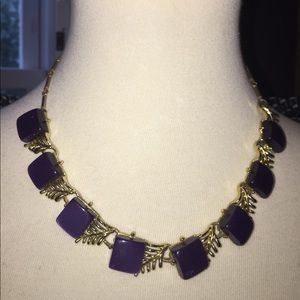 Coro vintage purple necklace, 1950's.
