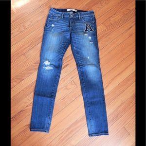 Abercrombie & Fitch Distressed Skinny Jeans Sz 4