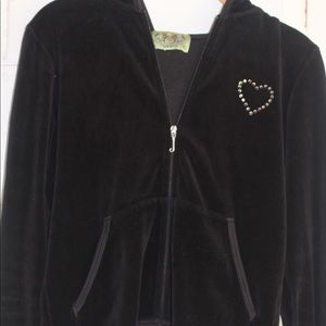 Velour Juicy Couture bedazzled hoodie