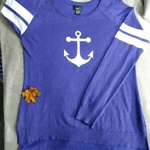 Rue 21 anchor high low sweater