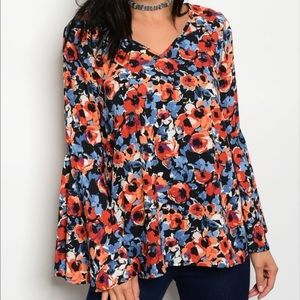 !!COMING SOON!! Floral Bell Sleeve Blouse