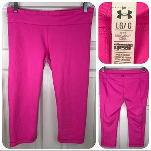 Under Armour UA All Season Gear Fitted Pink Capri