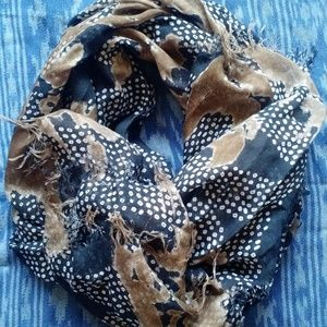 Anthropologie Raw Edged Soft Light Scarf