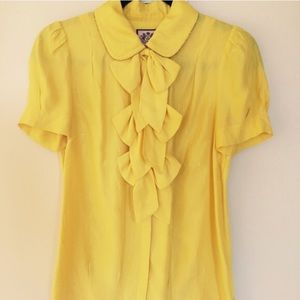 Juicy Couture Pussy Bow Yellow Top