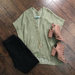 Karlie Green Tunic Top