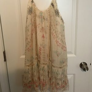 Free People One Off White Printed Dress