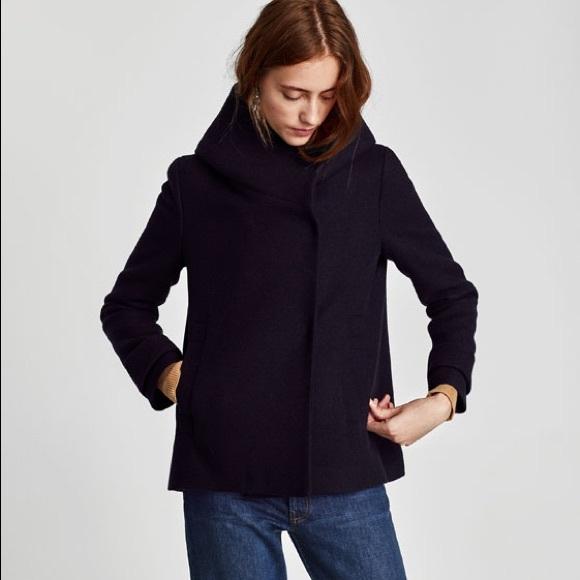8564d6beba New Zara Wrap Around Collar Coat Small