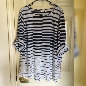Cato Semi Sheer Striped Blouse 18/20