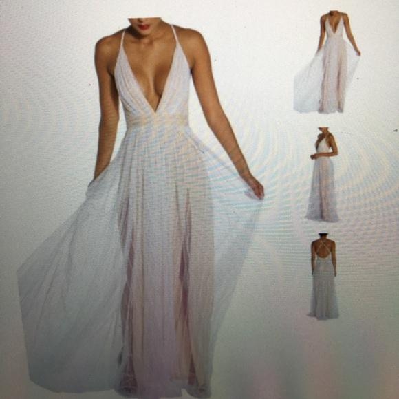 fee4a97d79 luxxel Dresses   Skirts - Neutral White Maxi Dress