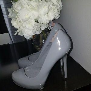Aldo Charcoal Gray Heels, Size 7