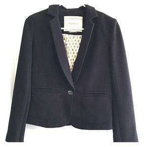 Anthro Cartonnier Black Blazer Size 2 EUC