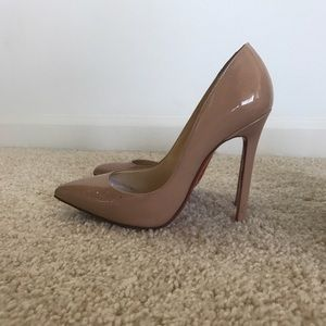 Christian louboutin 37.5 pigalle nude 120mm