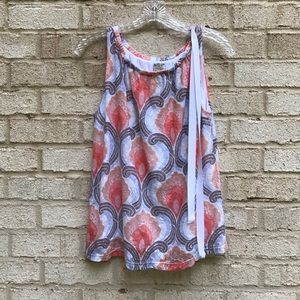 Anthropologie RIc Rac floral pattern lace tank