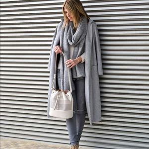 Zara Grey Thick Knit Long Scarf