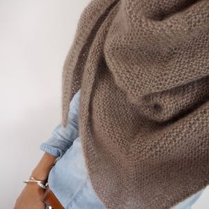 New Zara Beige Reversible Ribbed Long Soft Scarf