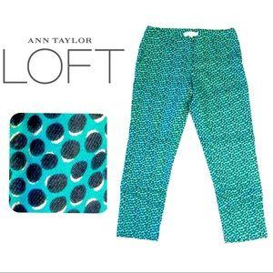 RS⭐️ NWOT LOFT Linen Marisa Fit Trouser Pants Sz 0