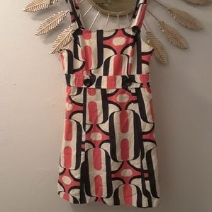 Mini dress with 60's pattern