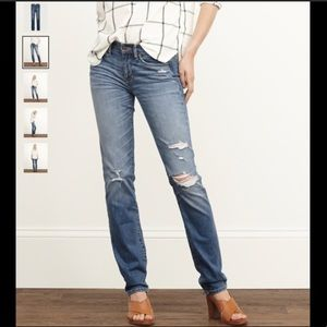 Abercrombie & Fitch Destroyed Skinny Jeans SZ 14P