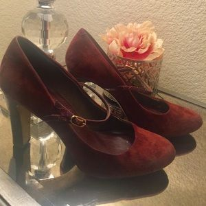 Banana Republic Maryjane Style Heels in Chestnut
