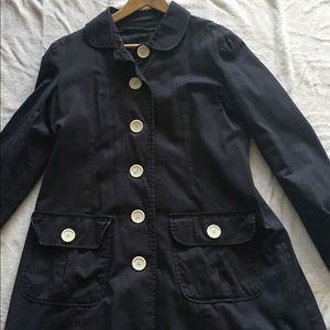 Navy blue jacket.