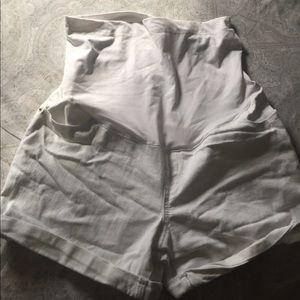 Pants - White maternity shorts