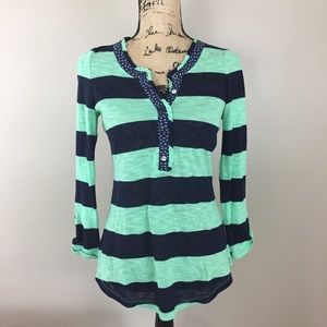 Anthropologie Postmark 9-H15 St Cl Striped Top, XS