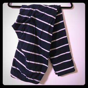 Torrid Navy and White Stripe Leggings, 3x