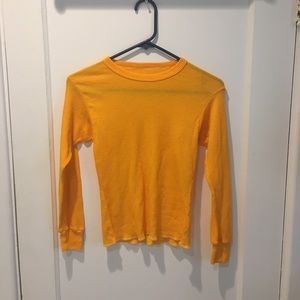 NWOT Yellow waffle knit urban outfitters tee