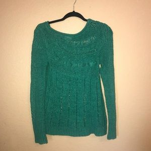 Moth by Anthropologie green sweater tunic