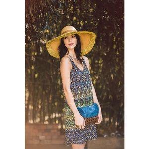 Topshop Printed Slip Dress
