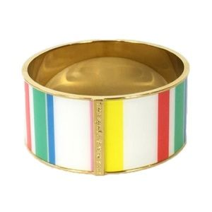 NWT KATE SPADE DUNE STRIPE WIDE BANGLE BRACELET