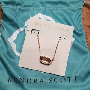 NWT Kendra Scott Elisa Pendant Necklace- Rose Gold