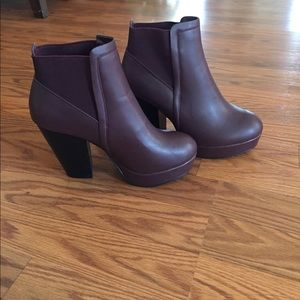 RESERVED Wild Dive Burgundy Booties