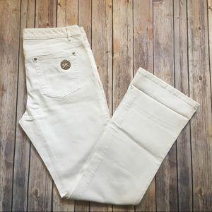 Michael Kors Bootcut White Jeans 8