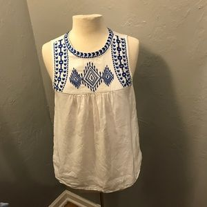 J.crew factory embroidered top