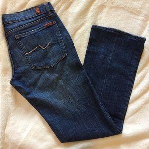 7 For All Mankind Swarovski Pink Crystal Jeans 30