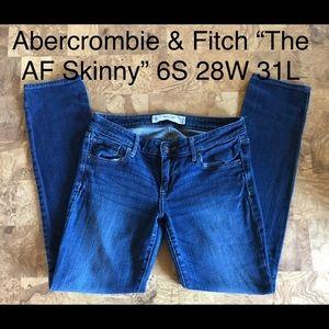 """Abercrombie & Fitch """"The Skinny AF"""" 6s 28w x 31l"""