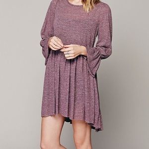 FP Beach Cover Up Dress- Purple Stripe