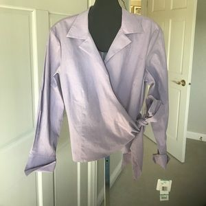 NWT Jones New York Wrap Shirt Size 16