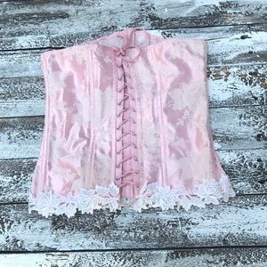 Other - Boned laces pink corset cosplay halloween shaper