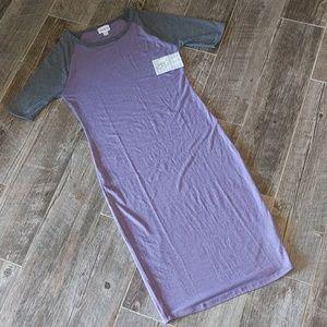 JULIA DRESS Buttery soft xs 2/4 lavendar & gray