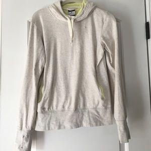 Cute tan Nike cowl neck sweater!