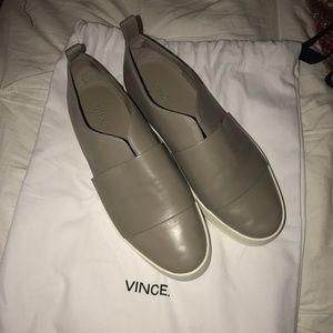Vince Wallace Platform Leather Sneaker