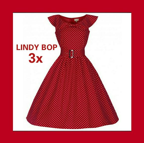 7fd210c96286b Lindy Bop Dresses & Skirts - LINDY BOP HETTY SWING DRESS RETRO ROCKABILLY  50's