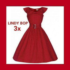 LINDY BOP SWING DRESS RETRO ROCKABILLY 50's FULL